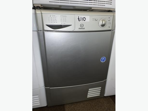 PLANET APPLIANCE - 8KG SILVER INDESIT DRYER WITH WARRANTY