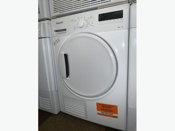 PLANET APPLIANCE - 8KG LOAD WHITE HOTPOINT DRYER