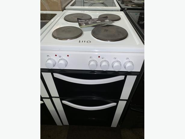 PLANET APPLIANCE - 50CM PLATED WHITE ELECTRIC COOKER