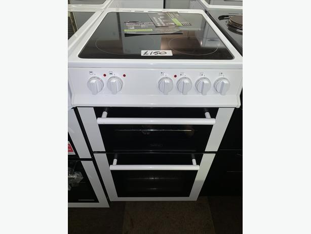 PLANET APPLIANCE - WHITE 50CM BELLING ELECTRIC COOKER