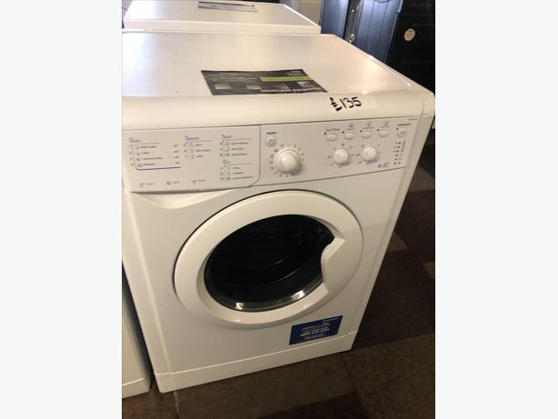 PLANET 🌎 APPLIANCE- WHITE 6KG INDESIT WASHER DRYER WITH GUARANTEE 🇬🇧🇬🇧