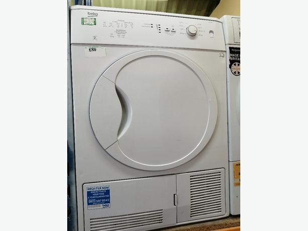 Beko 7kg condenser dryer with warranty at Recyk