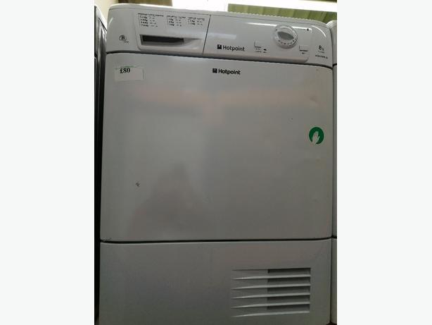 Hotpoint 8kg condenser dryer with warranty at Recyk