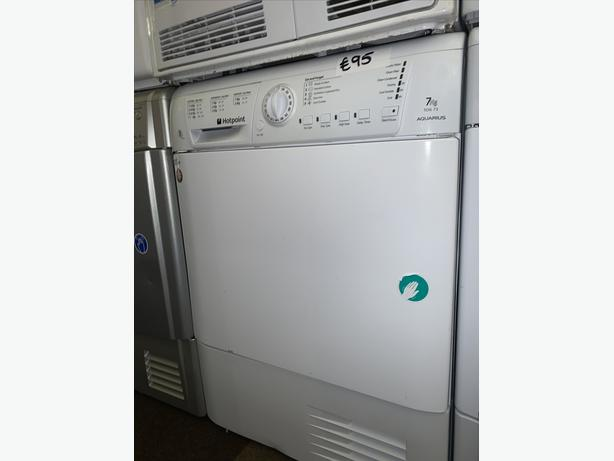 PLANET APPLIANCE - 7KG LOAD WHITE HOTPOINT CONDENSER DRYER WITH WARRANTY