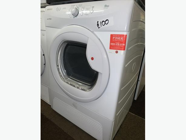 PLANET APPLIANCE - 9KG LOAD HOOVER WHITE DRYER WITH WARRANTY