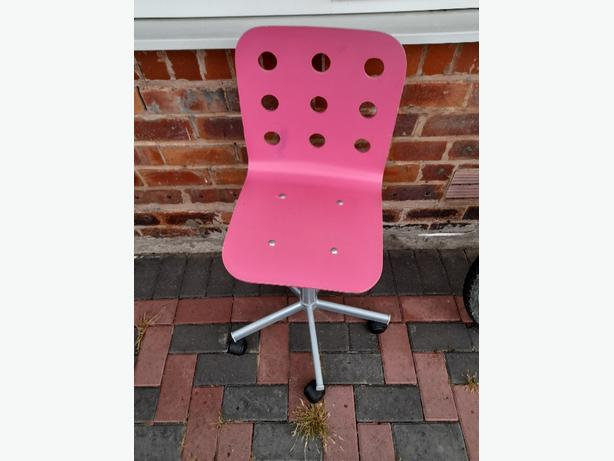 pink spinning chair