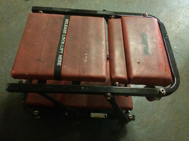 Clarke 2-1 folding car creeper & seat padded & headrest