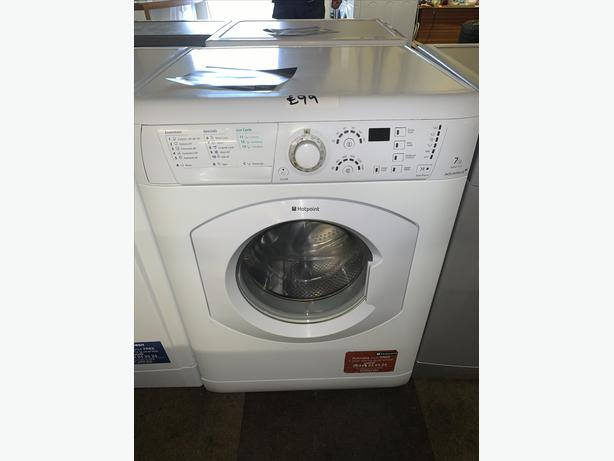 PLANET APPLIANCE - 7KG WHITE HOTPOINT WASHER WASHING MACHINE