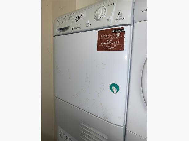 PLANET APPLIANCE - HOTPOINT CONDENSER DRYER COMES WITH WARRANTY INCLUDED