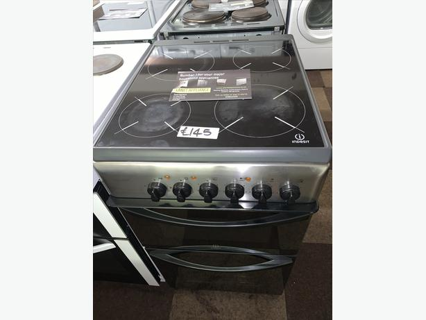 PLANET APPLIANCE - INDESIT SILVER 50CM ELECTRIC COOKER WITH WARRANTY
