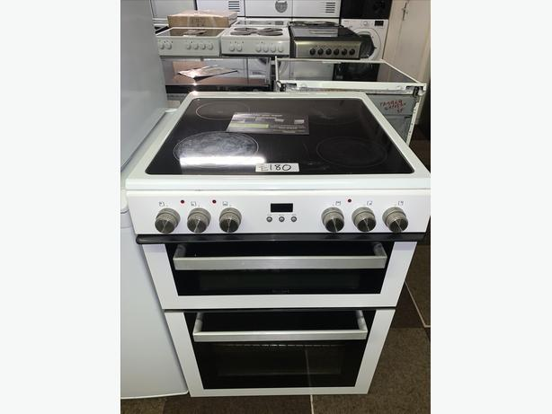 PLANET APPLIANCE - 60CM WHITE BUSH ELECTRIC COOKER WITH WARRANTY