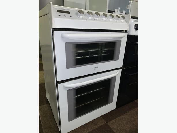 PLANET APPLIANCE - WHITE ZANUSSI ELECTRIC COOKER 60CM WITH WARRANTY INCLUDED