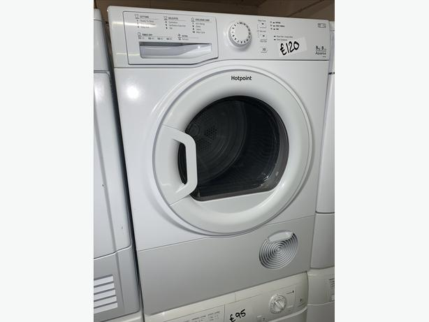 PLANET APPLIANCE - 9KG HOTPOINT CONDENSER DRYER WITH WARRANTY