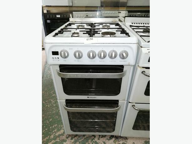 Hotpoint ultima gas cooker 50 cm with warranty at Recyk Appliances