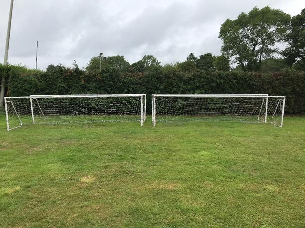 Metal 16x4ft 5aside Football Goals