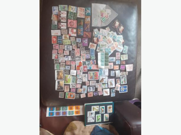 stamps from all over the world from 1940s onwards