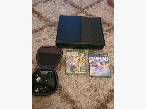 xbox one 500gb with 2 games