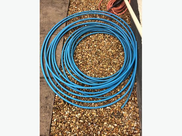 Blue plastic pipe tube 14mm diameter inside and 19mm outside