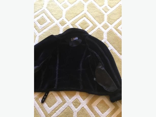 Black suede Aviator style jacket