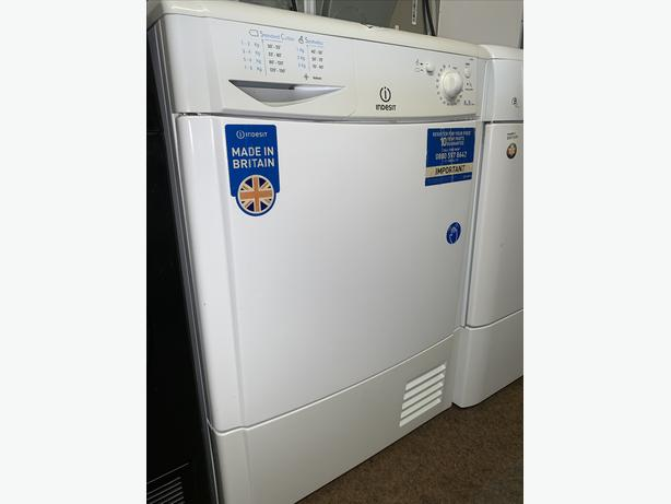 PLANET APPLIANCE - 8KG LOAD INDESIT CONDENSER DRYER WITH WARRANTY