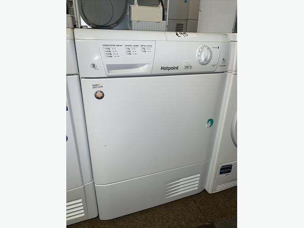 PLANET APPLIANCE - 8KG HOTPOINT CONDENSER DRYER WITH WARRANTY