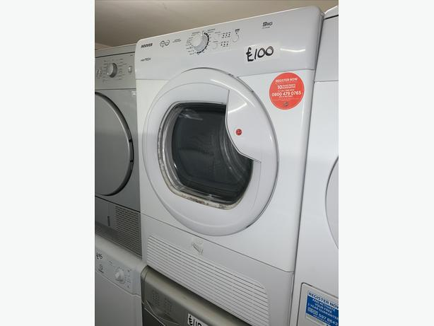 PLANET APPLIANCE - 9KG LOAD HOOVER CONDENSER DRYER WITH WARRANTY