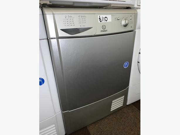 PLANET APPLIANCE - 8KG INDESIT SILVER CONDENSER DRYER