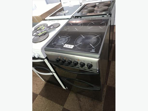 PLANET APPLIANCE - 50CM SILVER INDESIT ELECTRIC COOKER
