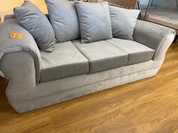 3 SEATER SOFA -brandnew -french soft touch grey material