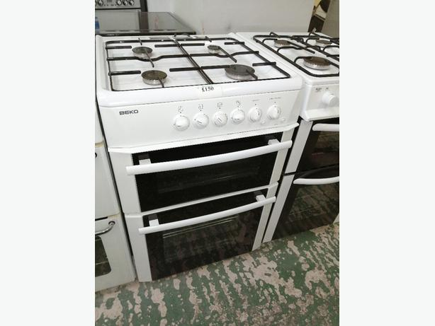 Beko 60 cm gas cooker with warranty at Recyk Appliances