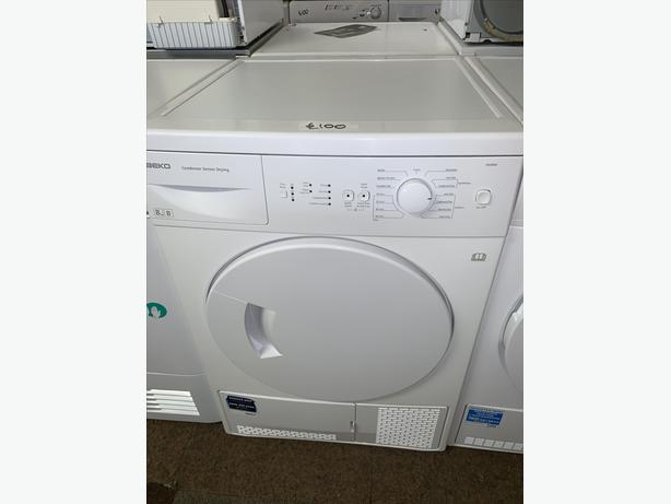 PLANET APPLIANCE - 8KG BEKO CONDENSER DRYER WARRANTY ALL IN