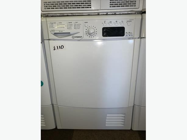 PLANET APPLIANCE - 8KG INDESIT CONDENSER DRYER WARRANTY ALL IN