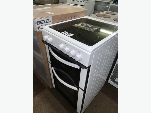 PLANET APPLIANCE - 50CM WHITE ELECTRIC COOKER WITH WARRANTY