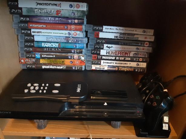 120GB ps3 with accessories and x9 games