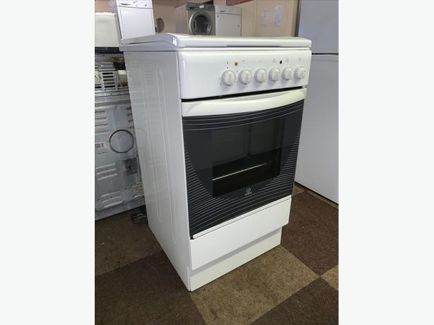 PLANET APPLIANCE - 50CM INDESIT WHITE PLATED ELECTRIC COOKER