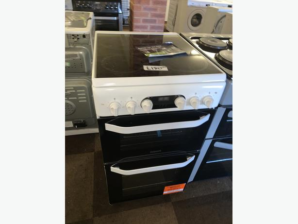 PLANET APPLIANCE - WHITE 50CM ELECTRIC HOTPOINT COOKER