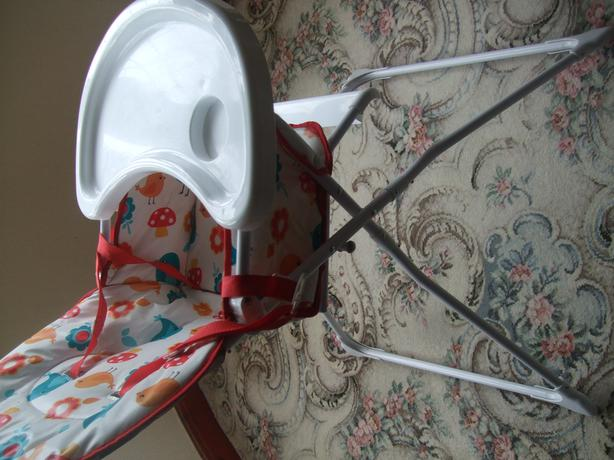 highchair and stairgate