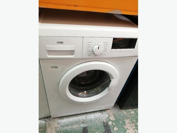 Logik 8 kg washing machine with warranty at Recyk Appliances