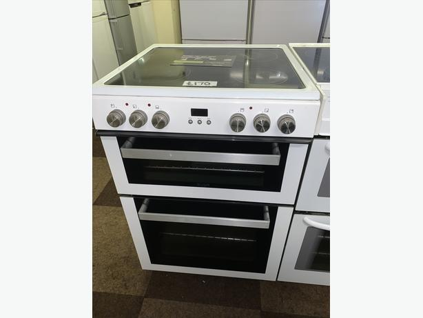 60CM WHITE BUSH ELECTRIC COOKER