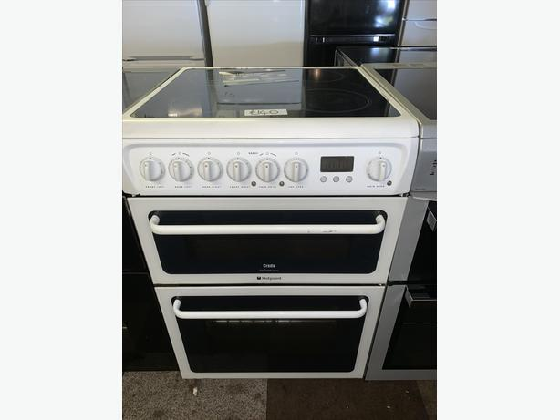 60CM HOTPOINT ELECTRIC COOKER IN WHITE