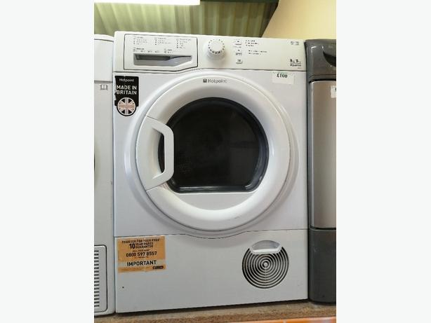 Hotpoint 9kg condenser dryer with warranty at Recyk Appliances