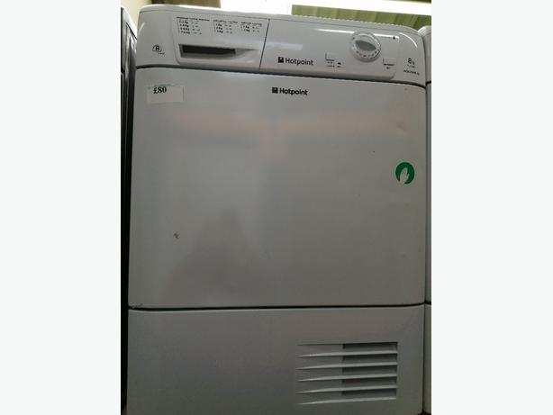 Hotpoint 8kg condenser dryer with warranty at Recyk Appliances