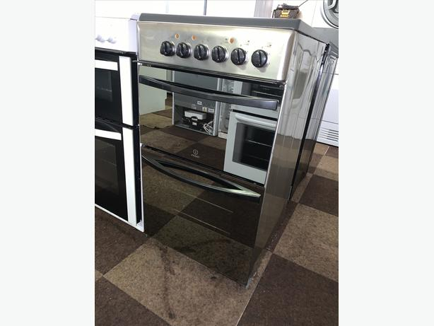 PLANET APPLIANCE - INDESIT 50CM ELECTRIC COOKER CHROME