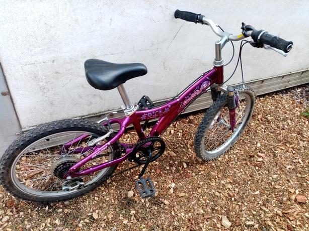 Girls Purple Mountain Bike