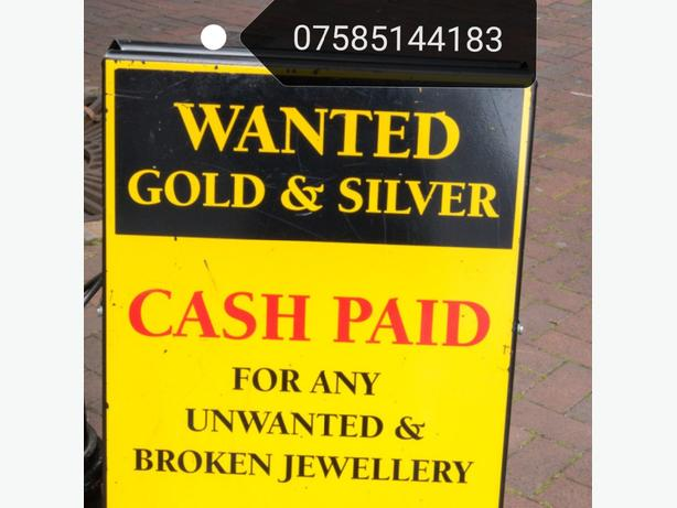 WANTED: GOLD SILVER and Antiques 9ct 14ct 18ct  Wanted