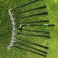 Taylormade FULL set bubble shaft irons, rescue wood and PING 3 and 5 woods