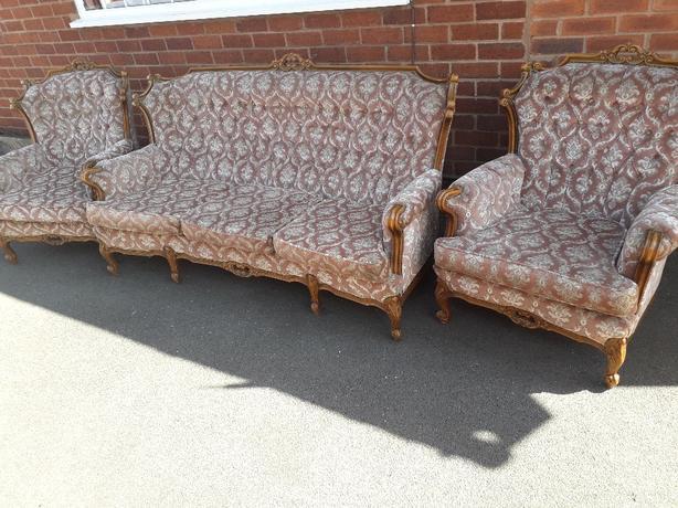 Italian Settee & Arm Chairs