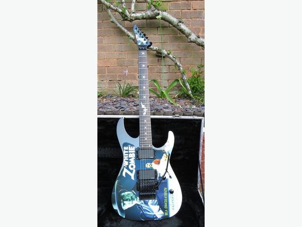 LTD Kirk Hammet White zombie Signature metallica guitar