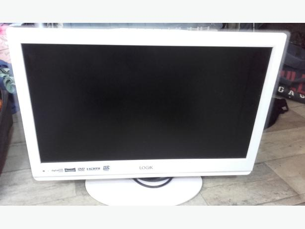 "logik 21.6"" white tv/dvd"