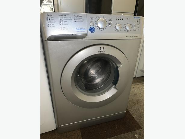 PLANET APPLIANCE - 6KG INDESIT SILVER WASHER WASHING MACHINE